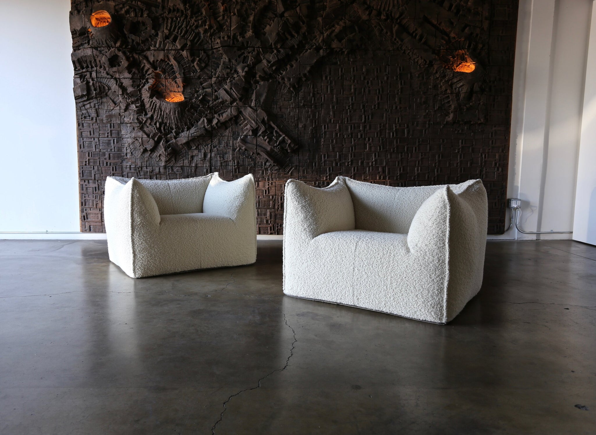 "= SOLD = Mario Bellini "" Le Bambole "" lounge chairs for B&B Italia circa 1985"