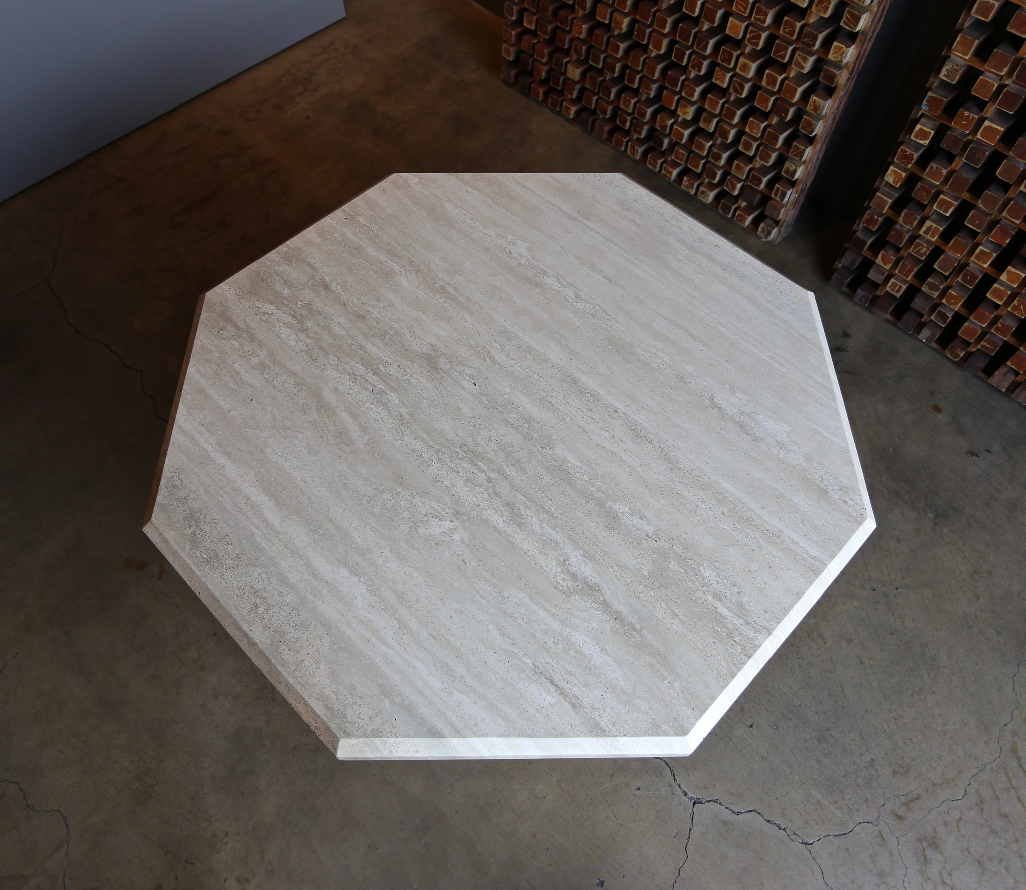 Octagonal Travertine Centre Table, circa 1980