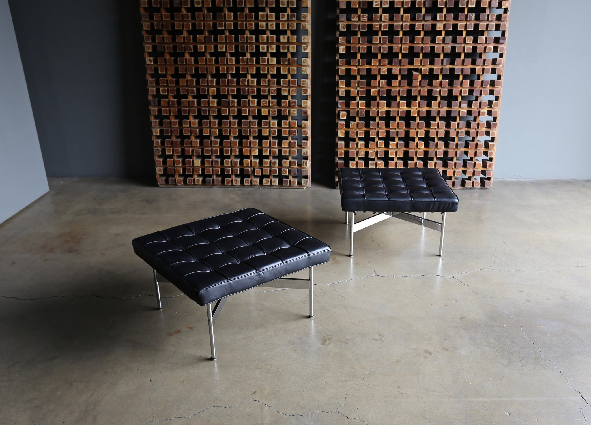Katavolos, Littell & Kelley Pair of Ottoman's for Laverne circa 1960