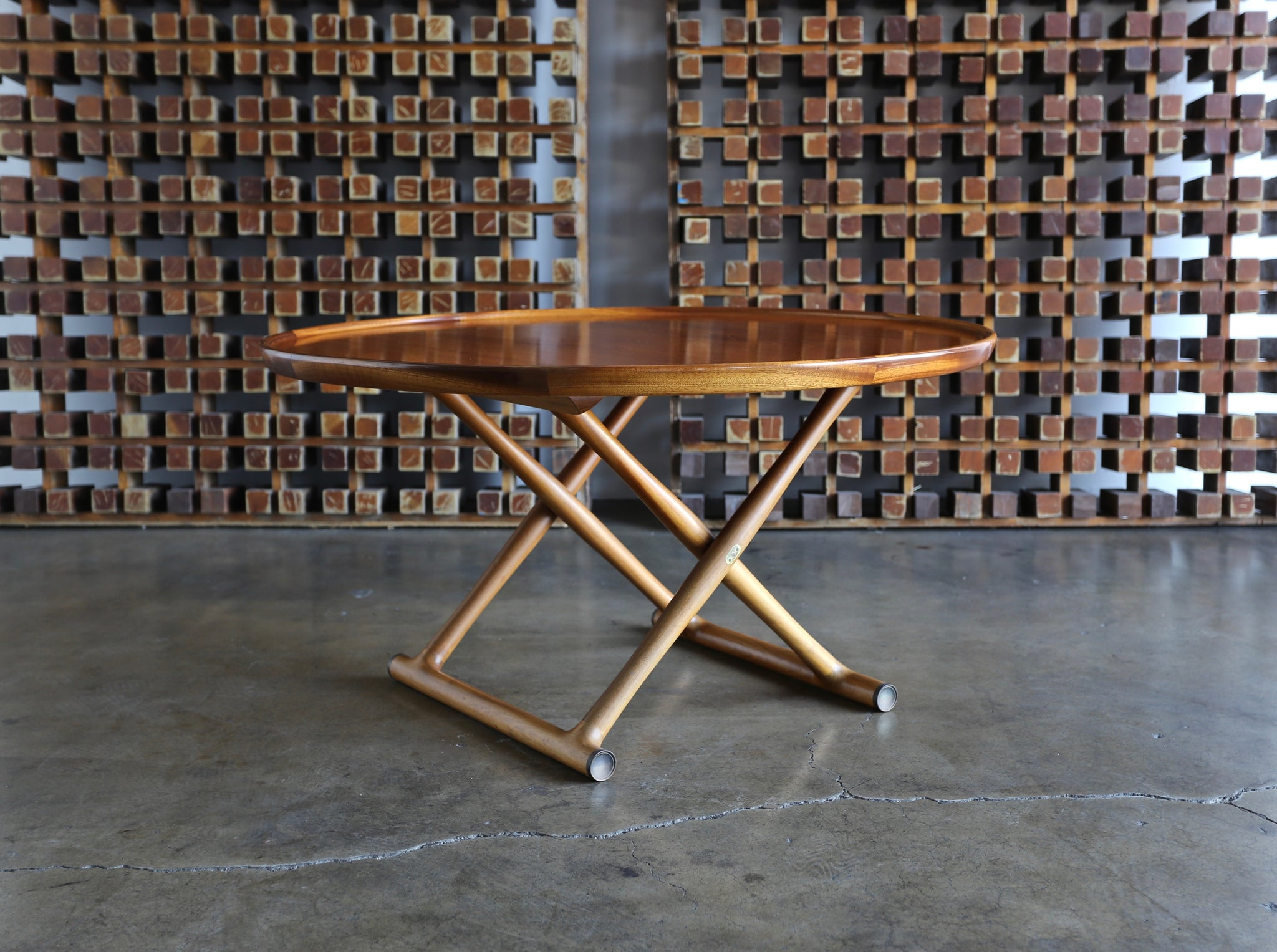 Large Egyptian Table by Mogens Lassen for A.J. Iversen circa 1955