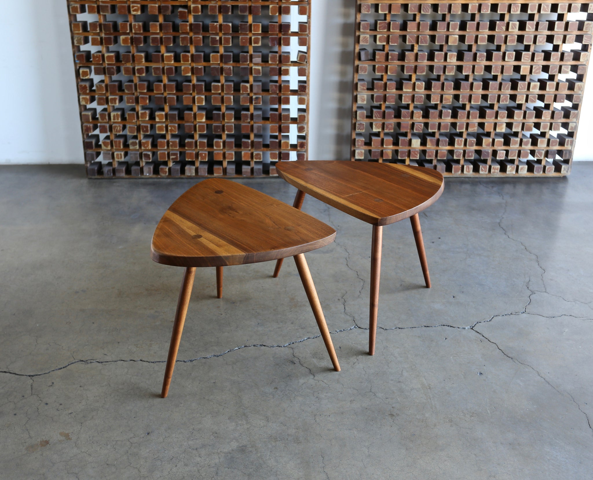 "George Nakashima Handcrafted ""Wohl"" Occasional Tables, 1954"