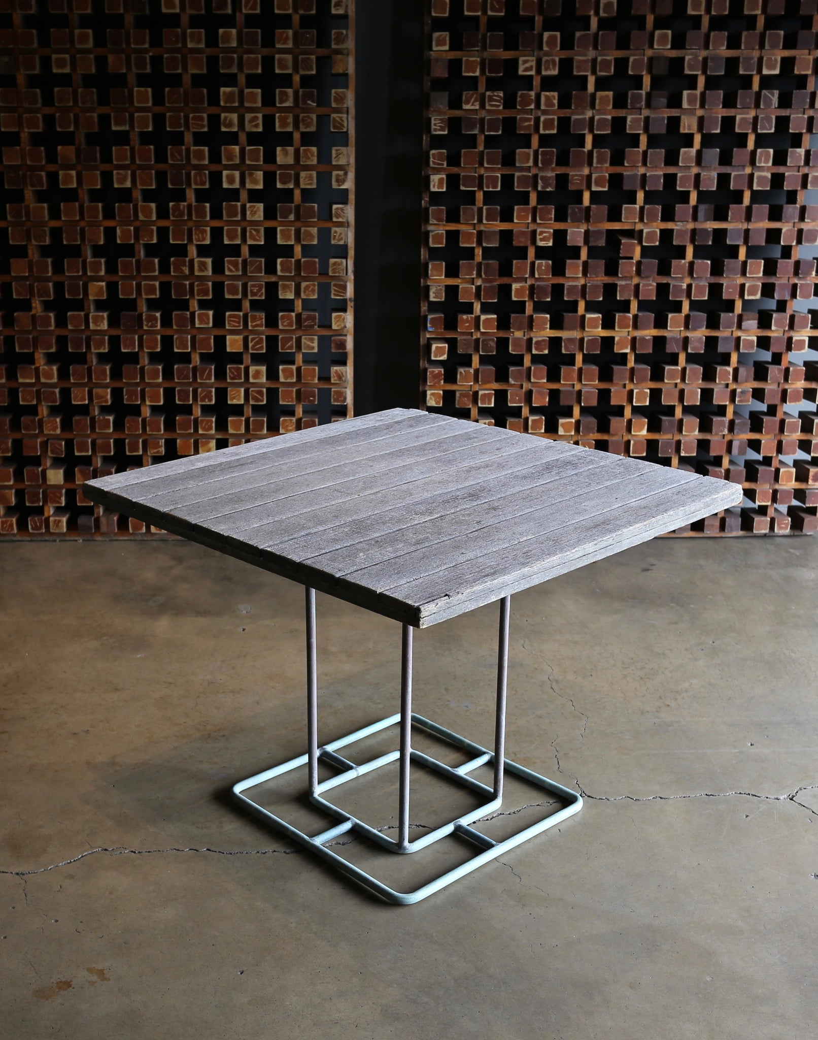 = SOLD = Walter Lamb Dining Table for Brown Jordan circa 1960