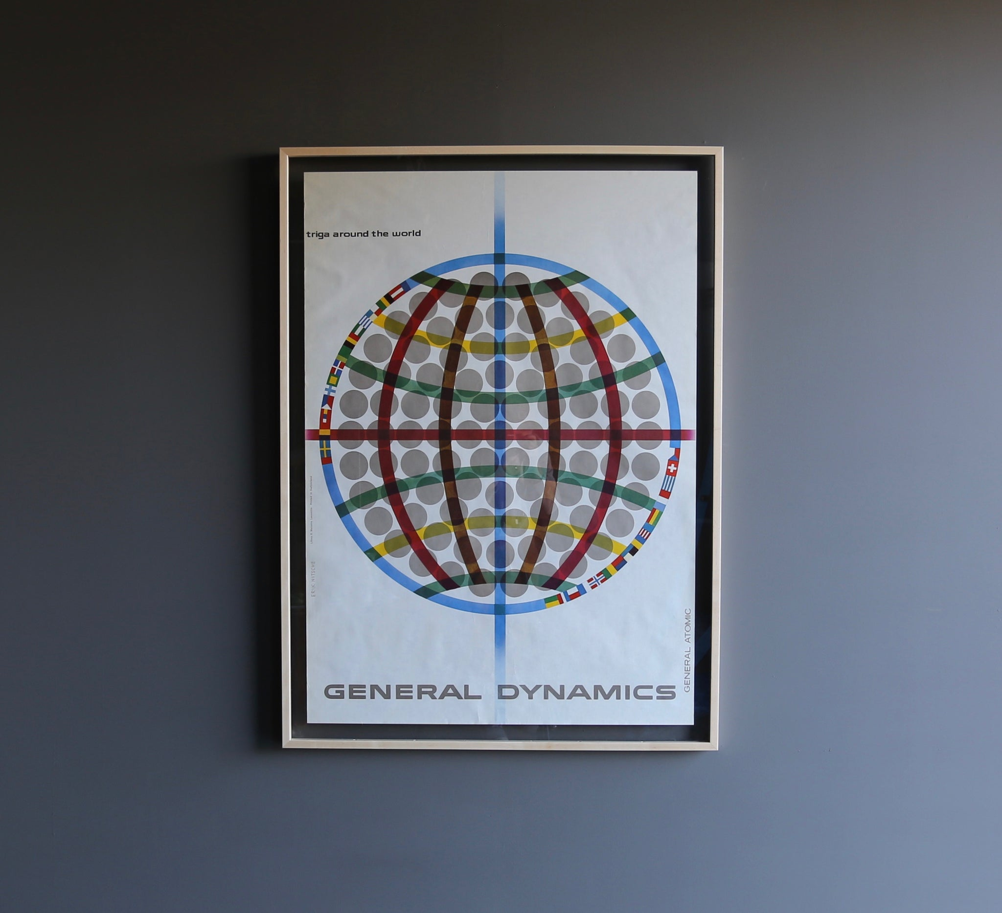 "= SOLD = Erik Nitsche "" General Atomic "" Poster for General Dynamics circa 1958"