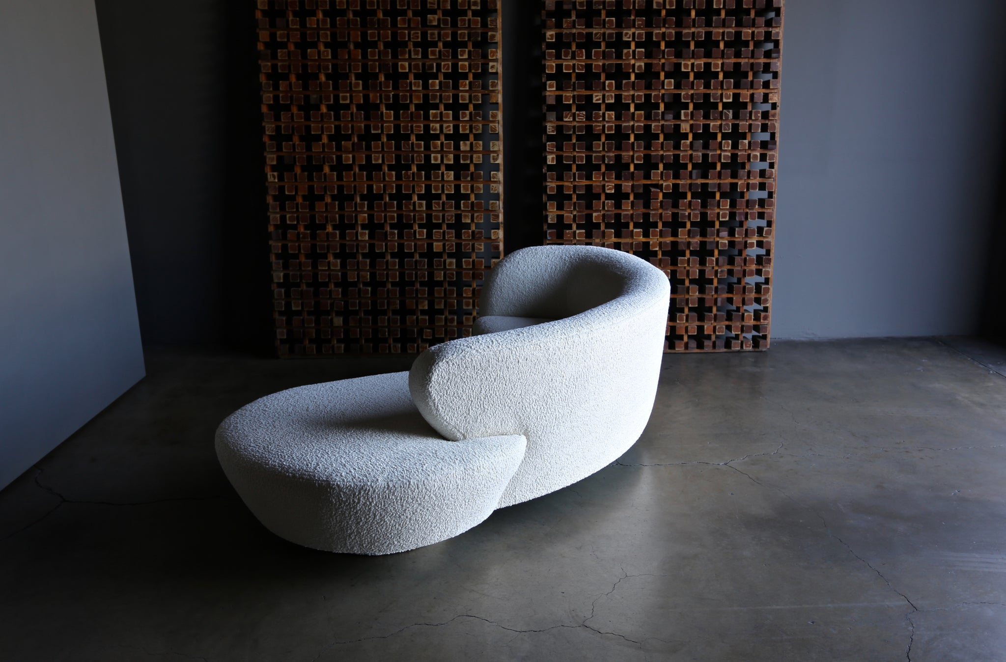 Vladimir Kagan Curved Serpentine Cloud Sofa for Directional