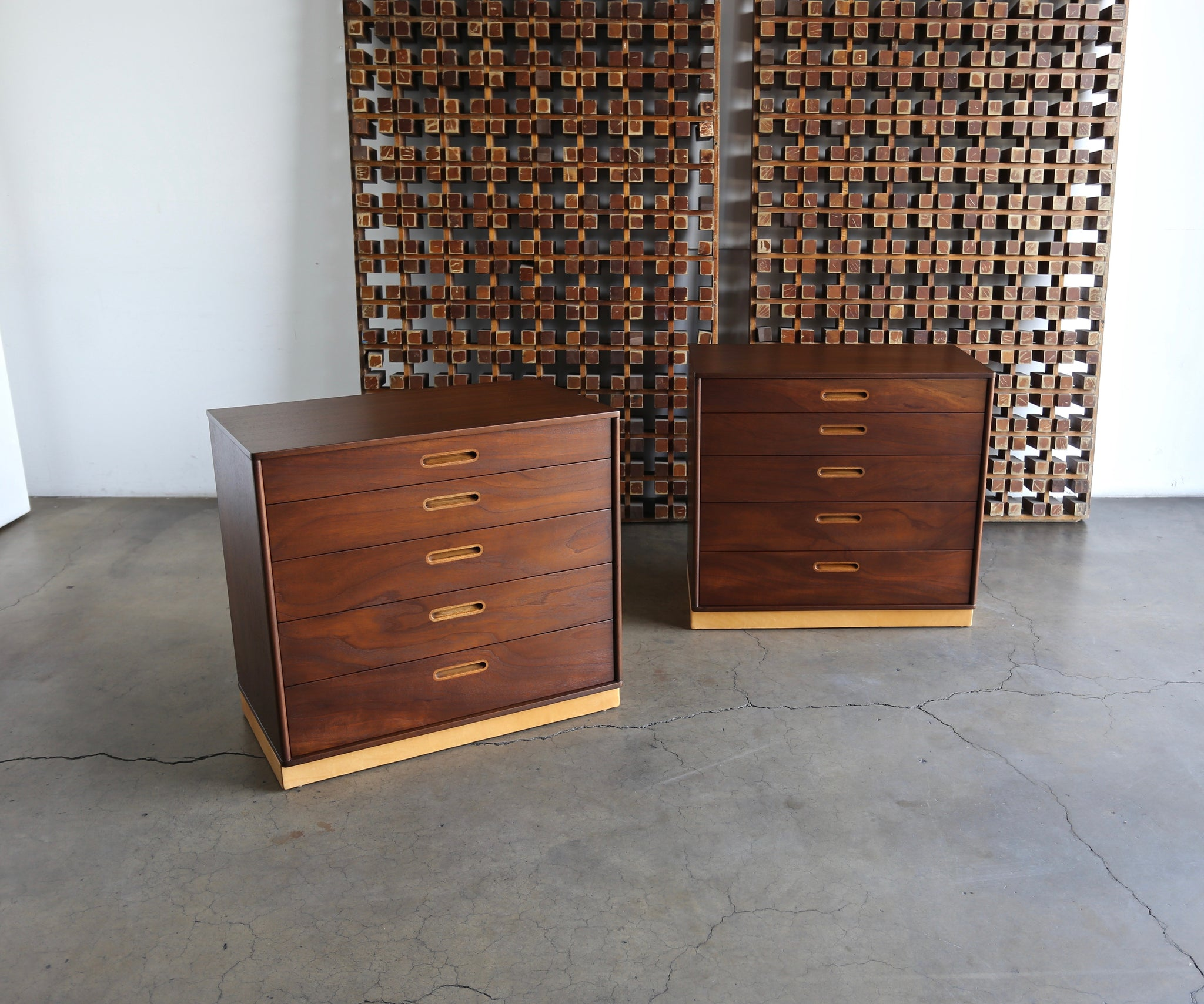 Edward Wormley Pair of Chest for Dunbar circa 1955