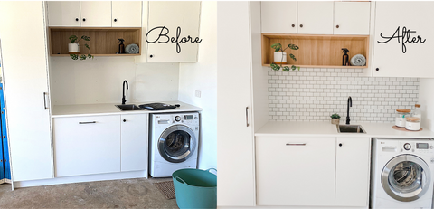 before and after laundry makeover australia