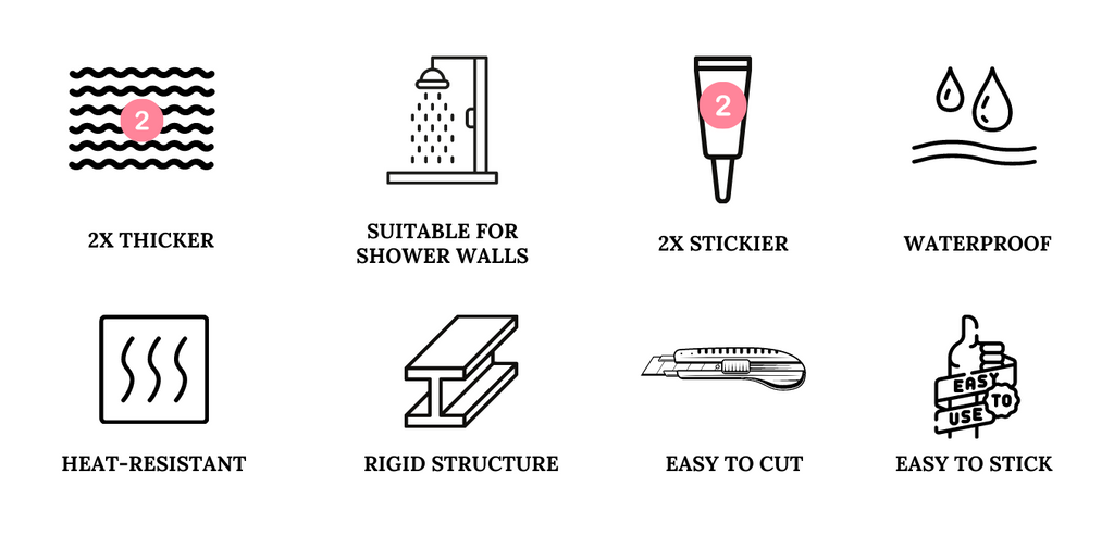 premium thicker version peel and stick tile for shower walls