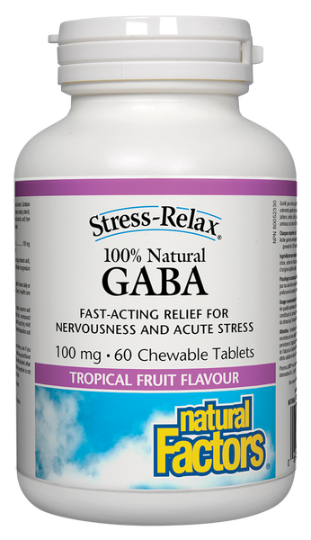 100% GABA 100 MG TROPICAL FRUIT CHEWS
