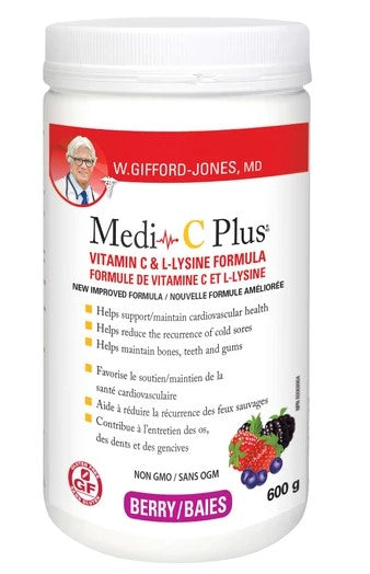 MEDI-C PLUS VITAMIN C & L-LYSINE MAGNESIUM BERRY POWDER