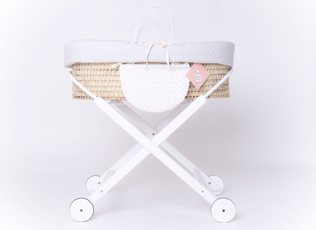 MOSES-BASSINET FOLK STAR GREY WHEELS