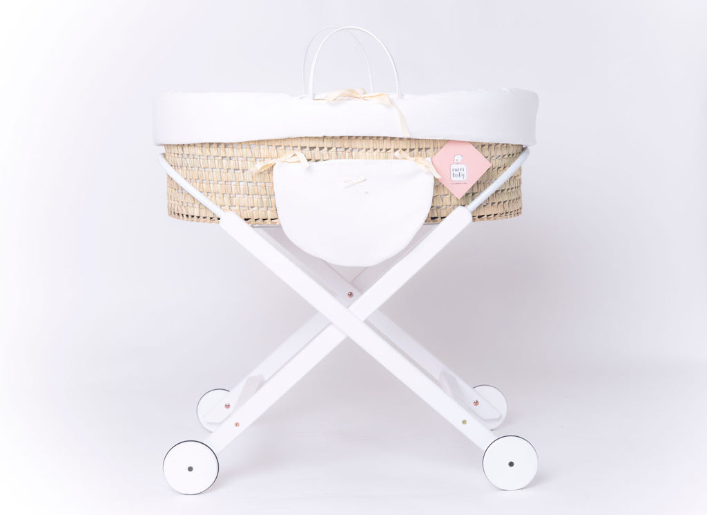MOSES-BASSINET FOLK WHITE WHEELS