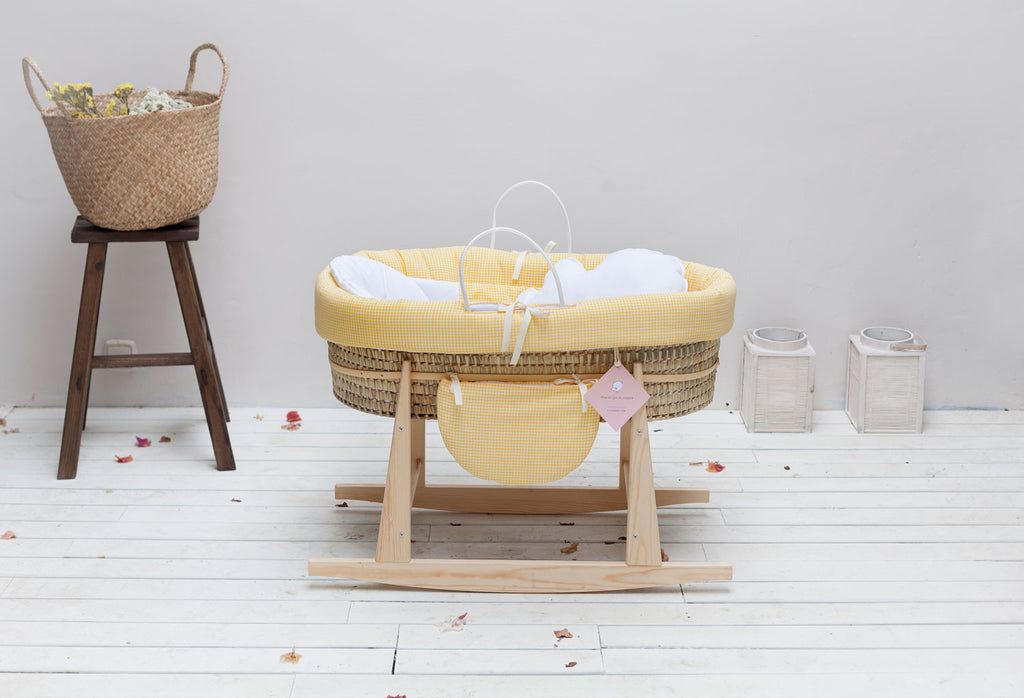 MOSES-BASSINET FOLK YELLOW VICHY