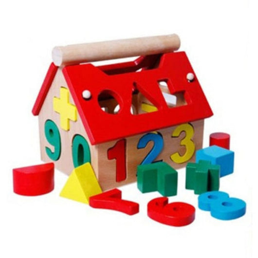 Digital Number House Building Blocks