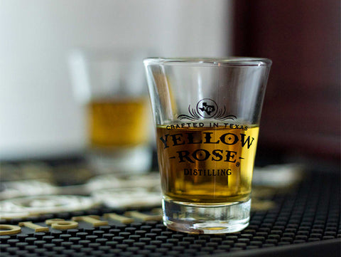 Yellow Rose Distilling Shot Glass