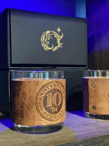 10th Anniversary Whiskey Glass Set