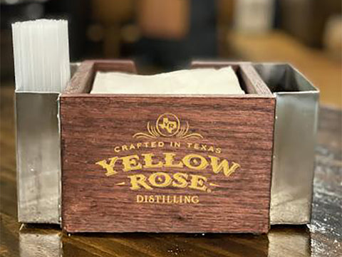 Yellow Rose Distilling Napkin Caddie