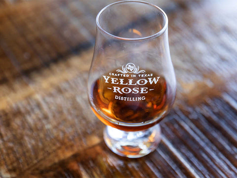 Yellow Rose Distilling Shot Glass Glencairn Glass