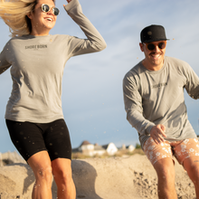 Load image into Gallery viewer, Shore Born long sleeve Seagull print is the ultimate way to kick fall off! Those cool fall nights at the beach never looked so good