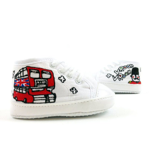 Double Decker Bus Baby Shoes
