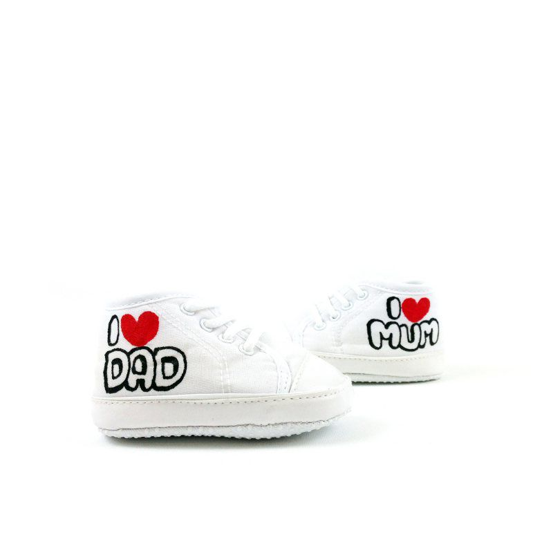 I Love Mum & Dad Baby Shoes