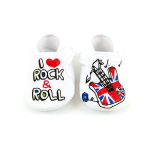 I Love Rock & Roll Velcro Baby Shoes