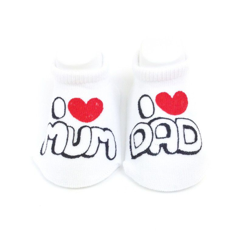 I Love Mum & Dad Baby Socks