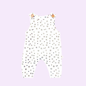 Raindrop Dungarees with One Button