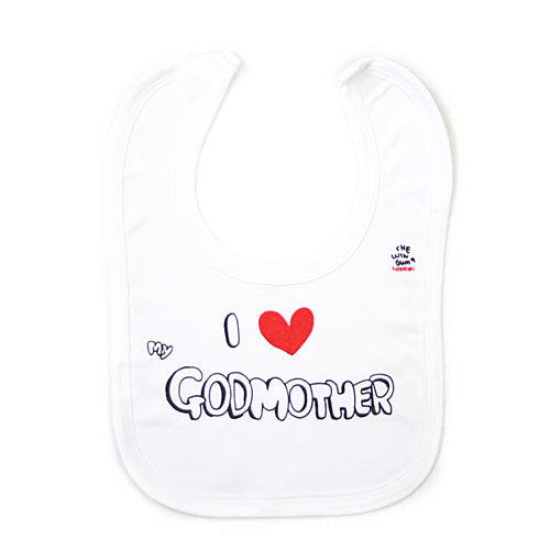 I Love my Godmother Bib