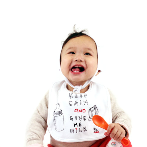 Keep Calm and Give Me Milk Bib