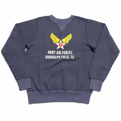 "BUZZ RICKSON'S SET-IN CREW SWEAT ""ARMY AIR FORCES"" BR68695"
