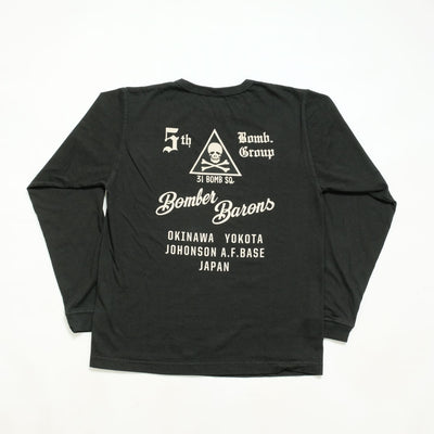 "Buzz Rickson's L/S T-SHIRT 5th BOMB.GROUP ""BOMBER BARONS"""