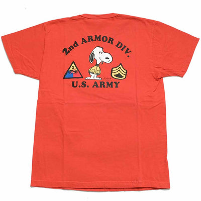 "BUZZ RICKSON'S × PEANUTS S/S T-SHIRT ""2ND ARMOR DIV."" BR78684"