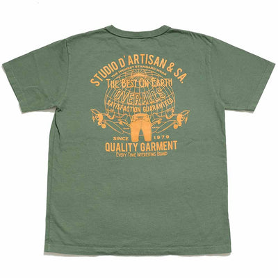 "STUDIO D'ARTISAN USA COTTON S/S T-SHIRT ""OVERALLS"" 8029B"