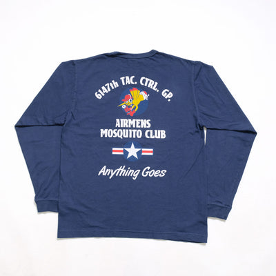 "Buzz Rickson's L/S T-SHIRT 6147th TAC. CTRL. GP. ""MOSQUITO CLUB"""