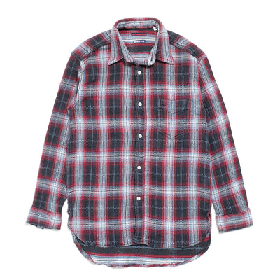 BLUE BLUE Indigo soft canvas  Check shirt