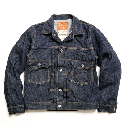 Burgus Plus Natural Indigo Selvedge 2nd Type Denim Jacket