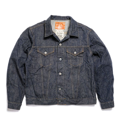 Burgus Plus Natural Indigo Selvedge 3rd Type Denim Jacket