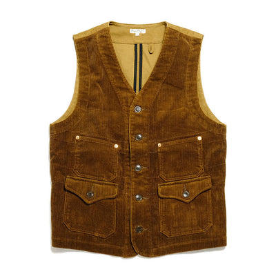 BURGUS PLUS Wide Wale Corduroy Work Vest BP16903-1