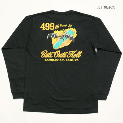 "Buzz Rickson's L/S T-SHIRT ""499th BOMB.SQ."""