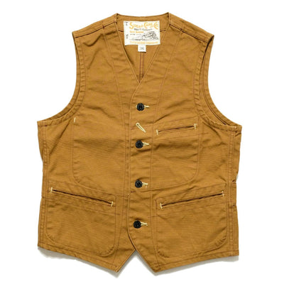 SUGAR CANE 13oz. BROWN DUCK WORK VEST SC14375