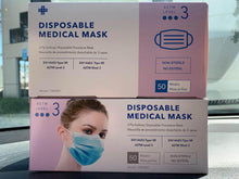Load image into Gallery viewer, 3 Ply Surgical Mask-  ASTM Level 3