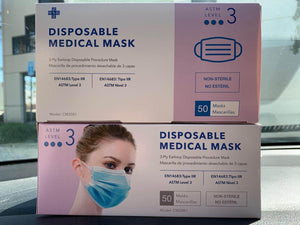 3 Ply Surgical Mask-  ASTM Level 3