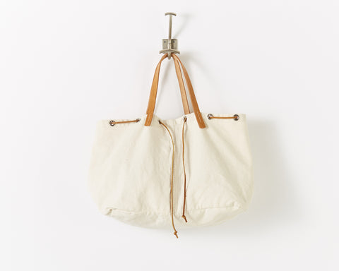 utility tote denim natural