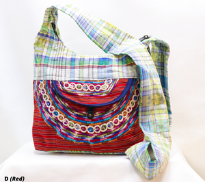 SMALL EMBROIDERED ASSORTED COLORS HOBO BAGS