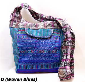 ASSORTED LARGE ZIPPERED HOBO BAGS