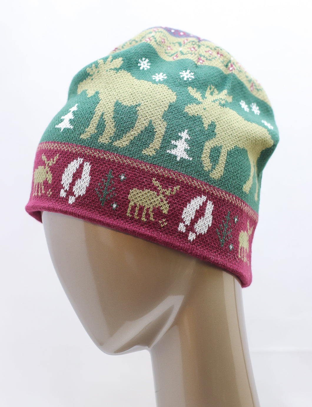 KNITTED MOOSE DETAILED HAT