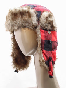 DAKOTA DAN LUMBERJACK PLAID TRAPPER HAT