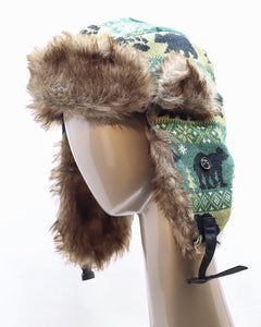 DAKOTA DAN BLACK BEARS TRAPPER HAT