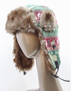 DAKOTA DAN WINTER MOOSE TRAPPER HAT