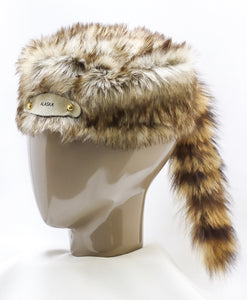 DANIEL BOONE HAT WITH GENUINE AMERICAN RACCOON TAIL